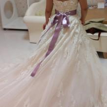 白ドレス(サッシュリボンつき)