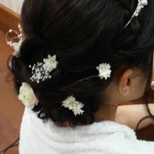 ヘアアクセ(造花)
