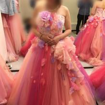 ピンク好きには最高のドレスです