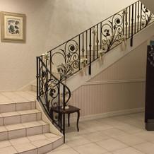 披露宴会場へ続く階段