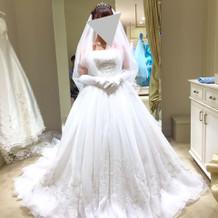 挙式で着たドレス
