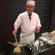 天ぷらショー