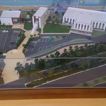 施設内にあったザサーフの周辺の模型
