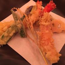 野菜や魚介の天婦羅