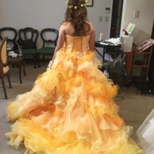カラードレスがとても可愛いかった