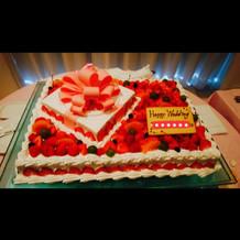 ケーキがとても美味しかったです