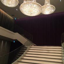 チャペルを出たところにある大階段