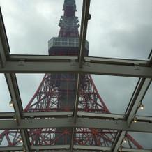 チャペルから見える東京タワー
