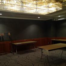 挙式前控え室