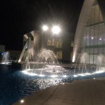 噴水が素敵です。