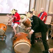 和太鼓の演奏に飛び入り