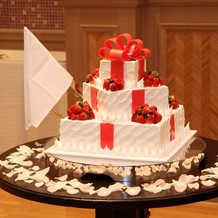 ケーキもかわいくて好評でした