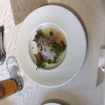 季節鮮魚のカルパッチョ