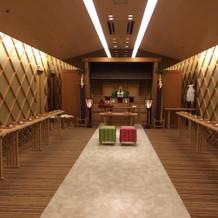 神前式、ホテル内神殿
