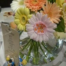 お花屋さんが花にシールを貼ってくれました
