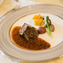 【本番】お肉料理和牛フィレのグリエ