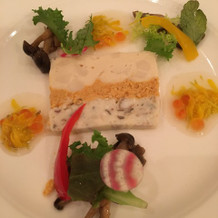 帆立貝と鰻と雲丹のテリーヌ