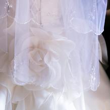 憧れていた純白のウエディングドレス
