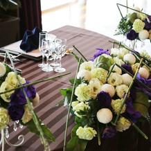披露宴時のお花