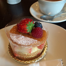カフェのケーキが美味しいです。