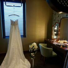 新郎新婦の準備室はプライベートルーム