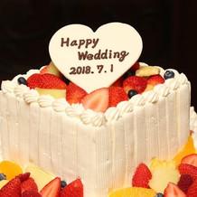 ケーキプレートはBFのプレゼントです。