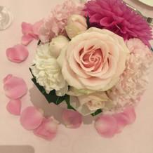 装花はこんな感じにしました!
