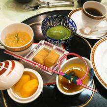 デザート。京都らしさもあり、美味!