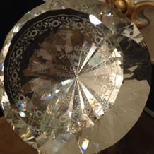 ガラスの大きなダイヤモンド風