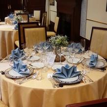 イタリア館テーブルコーディネート