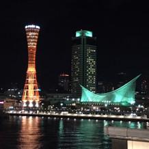 式場のテラスから見た夜景