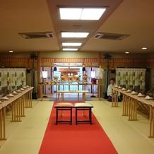 壺中庵の神殿(本館でも挙式できます)