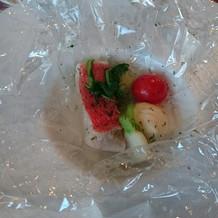 カルタファタに包んだ季節の魚