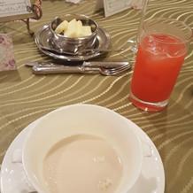 マッシュルームのスープ!おいしかった!