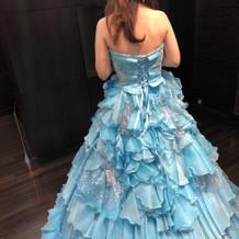 衣装合わせ⑤ 水色ドレス