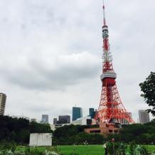 東京タワーが目の前