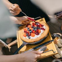 ぐりとぐらのような、可愛いパンケーキ