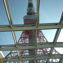 挙式会場からの東京タワー