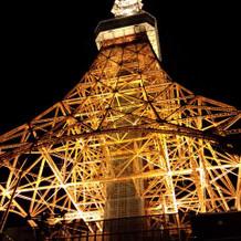 披露宴終了後の東京タワー
