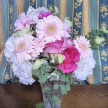 持ち帰りした披露宴からの花束