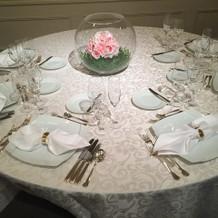 白のテーブルクロス