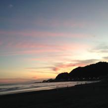 会場から徒歩で行ける湘南の海。