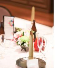 竹を模したテーブルナプキン