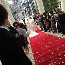 大階段。新婦のお気に入り(^^)