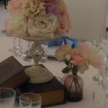 テーブルコーデネートのお花