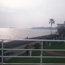 海の見える披露宴会場