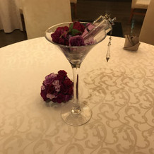 ゲストテーブルの装花