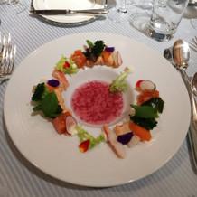 特別メニューの海の幸の前菜