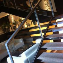 チャペルに向かう階段
