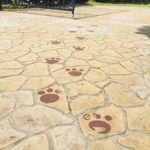 石畳の足跡